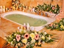 Bathroom interior with bubble bath Royalty Free Stock Photography