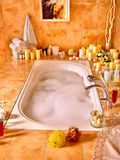 Bathroom interior with bubble bath Stock Images