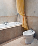 Bathroom interior in classic style Stock Photo