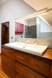 Bathroom interior, countertop Royalty Free Stock Image