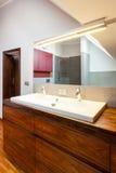 Bathroom interior, countertop Royalty Free Stock Image