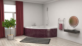 Bathroom interior. 3D illustration Royalty Free Stock Photography