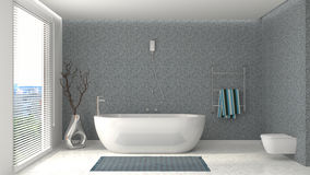 Bathroom interior. 3D illustration Stock Images