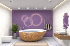Bathroom interior. 3D illustration Royalty Free Stock Images