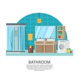 Bathroom Interior Design Composition Stock Photo