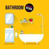 Bathroom interior design Royalty Free Stock Image