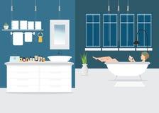 Bathroom interior design. Royalty Free Stock Images