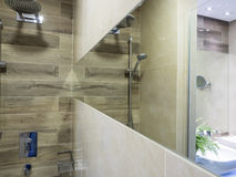 Bathroom interior. Elements and design Royalty Free Stock Photo