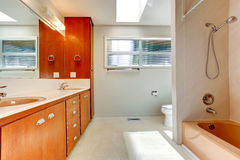 Bathroom interior in empty house Stock Photo