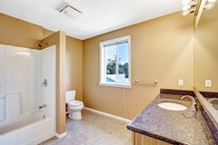 Bathroom interior in empty house Stock Photos