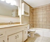 Bathroom interior in empty house Royalty Free Stock Image