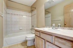Bathroom interior in empty house Royalty Free Stock Photo