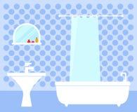 Bathroom interior on flat design Stock Photo