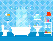 Bathroom interior with furniture Stock Photo