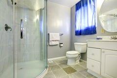 Bathroom interior with glass door shower Stock Photography
