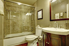 Bathroom interior with glass shower Stock Photography