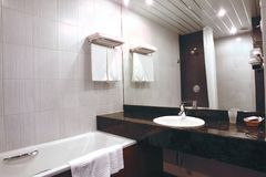 Bathroom  interior in hotel Stock Photography