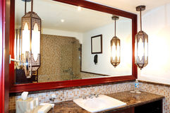 Bathroom interior of luxurious hotel Royalty Free Stock Photography