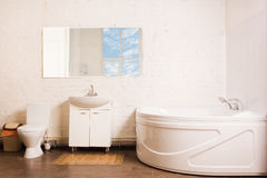 Bathroom Interior in luxury home Royalty Free Stock Photography