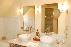 Bathroom interior in the luxury hotel Stock Photo