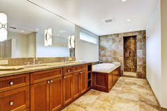 Bathroom interior in luxury house Royalty Free Stock Photo