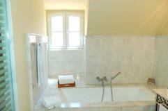 Bathroom interior in the luxury villa royalty free stock photography