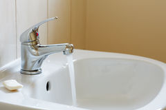 Bathroom interior - mixer tap Stock Images