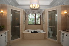 Bathroom interior. Interior of the modern bathroom Stock Image