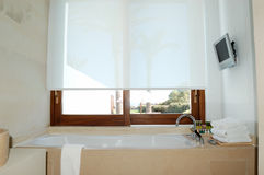 Bathroom interior at the modern luxury villa Stock Photography