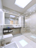 Bathroom interior in modern and stylish house Stock Images