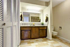 Bathroom interior with modern vanity cabinet Royalty Free Stock Image
