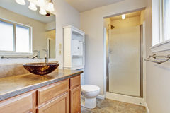 Bathroom interior in new house Stock Images