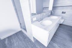 Bathroom interior in new luxury home. Stock Photos