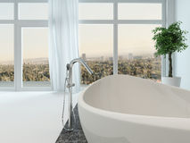Bathroom interior with nice freestanding bathtub Stock Images