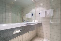 Bathroom interior of Radisson BLU hotel in Alesund Royalty Free Stock Image