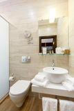Bathroom interior rooms of the hotel, with a washbasin and showe Royalty Free Stock Photo