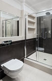 Bathroom interior with shower Royalty Free Stock Photo