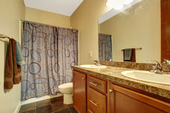 Bathroom interior in soft ivory Royalty Free Stock Photos