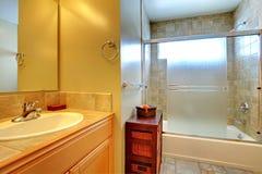 Bathroom interior with stone tile. Royalty Free Stock Photos