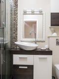 Bathroom interior. Toilet interior design and furniture Stock Photos