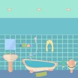 Bathroom interior vector illustration Stock Photos