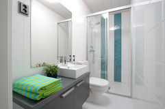 Bathroom interior view spa Stock Photos