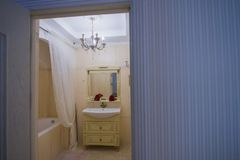 Bathroom interiors design Stock Image