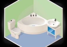 Bathroom isometric flat 3d vector Royalty Free Stock Image