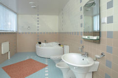 Bathroom with a jacuzzi Stock Image