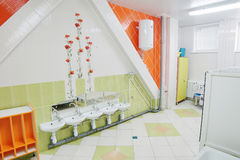 Bathroom in a kindergarten Royalty Free Stock Photo