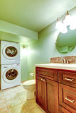Bathroom with laundry area Royalty Free Stock Photo