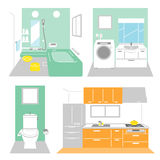 Bathroom, laundry, kitchen Stock Photography