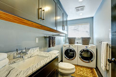 Bathroom and laundry toom perfect design. Stock Photos