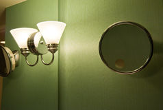 Bathroom light and mirror Royalty Free Stock Photos